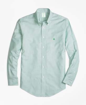 Brooks Brothers Non-Iron Milano Fit Oxford Stripe Sport Shirt