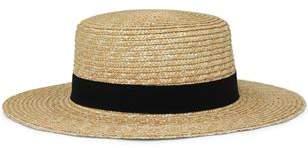 Subtitled Boater Hat Natural Hat