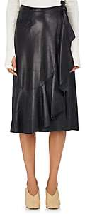 Helmut Lang Women's Lambskin Wrap Skirt - Blk