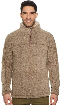 True Grit Luxe Melange Shearling 1/4 Zip Pullover Men's Clothing