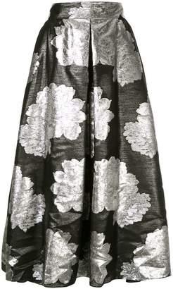 Ingie Paris floral metallic skirt