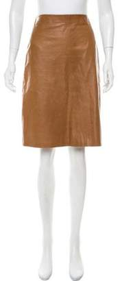 Calvin Klein Collection Knee-Length Leather Skirt