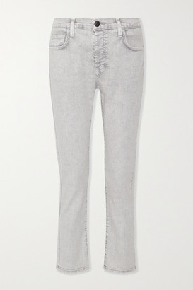 Current/Elliott - The Slouchy Skinny Cropped Jeans - Gray $230 thestylecure.com