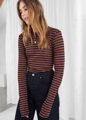 And other stories Sheer Striped Top