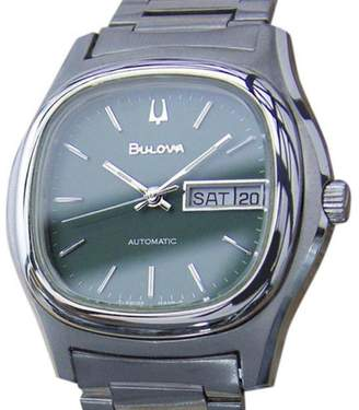 Bulova Stainless Steel Automatic Vintage 37mm Mens Watch 1970s