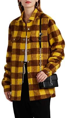 Rick Owens Women's Checked Alpaca-Wool Shirt Jacket