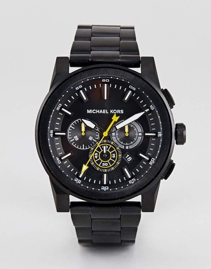 – MK8600 Grayson – Schwarze Armbanduhr, ...
