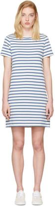 A.P.C. Blue Striped Becky Dress $180 thestylecure.com