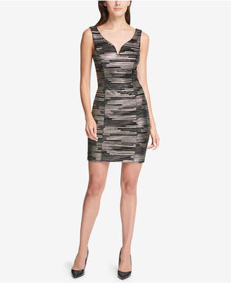 GUESS Metallic Sweetheart Bodycon Dress
