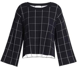 Claudie Pierlot チェック ストレッチニット セーター