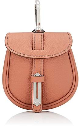 Fontana Milano 1915 Women's Mimosa Mini Leather Pouch Bag Charm - Coral
