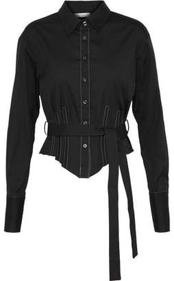 Tome Belted Cotton-Blend Poplin Shirt