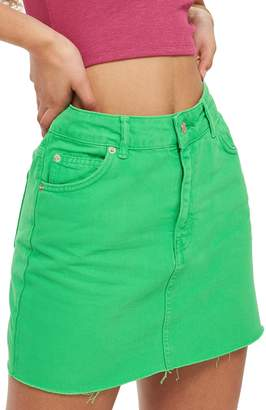 Topshop MOTO High Waist Denim Skirt