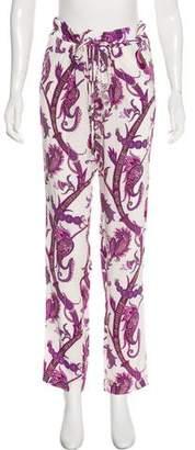 Gucci Silk Mid-Rise Pants