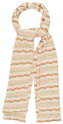 Missoni Striped Rayon Scarf