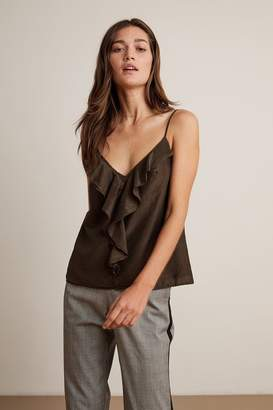 Velvet by Graham & Spencer Velvet By Graham Spencer Kori Silk Cotton Voile Ruffle Cami Tank