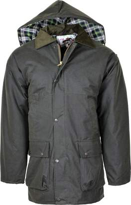 Kentex Online Men's British Quilted Rain Jacket Oily Waxed Coat Finsing Farming