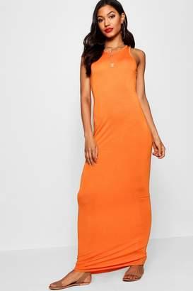 boohoo Phoebe Racer Front Sleeveless Maxi Dress