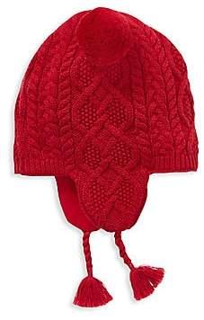 Ralph Lauren Girl's Aran-Knit Earflap Hat