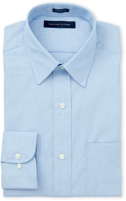 Tommy Hilfiger Blue Stripe Regular Fit Dress Shirt