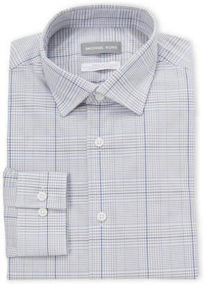 Michael Kors Blue Check Regular Fit Dress Shirt