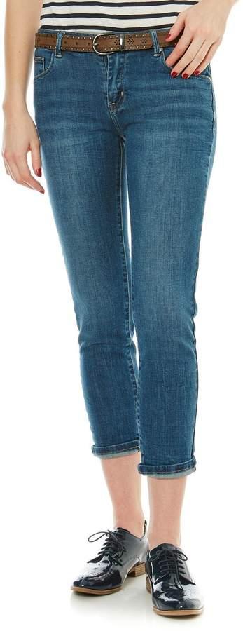 Jeans mit geradem Schnitt - jeansblau