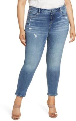 SLINK Jeans High Waist Ankle Jeans