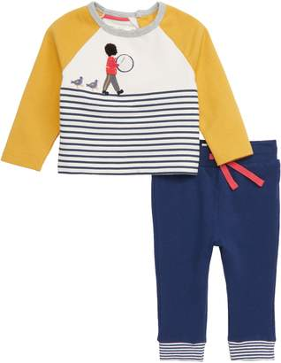 Boden Mini Fun Jersey Applique T-Shirt & Pants Set