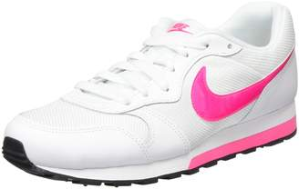 Nike Youths MD Runner 2 Pink Leather Trainers 38 EU