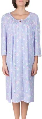Jasmine Rose Floral-Print Jersey Nightgown