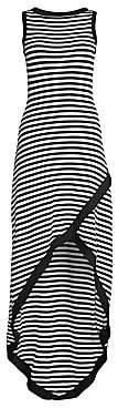 Victor Glemaud Women's Striped High-Low Maxi Dress