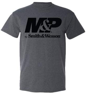 Smith & Wesson M&P by Men's Logo T-Shirt-Charcoal