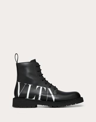 Valentino Garavani Uomo Calfskin Vltn Boots Man Black 100% Pelle Di Vitello - Bos Taurus 44