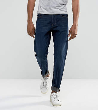 Diesel Larkee-Beex regular tapered fit jeans in 857Z indigo wash