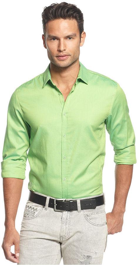 INC International Concepts Shirt, Pool Slim Fit Shirt