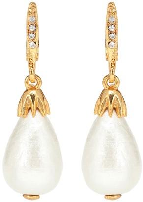 Oscar de la Renta Faux pearl earrings