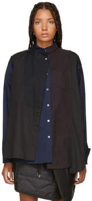 Sacai Black Panelled Shirt