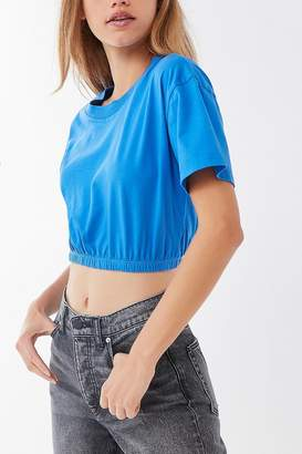 Truly Madly Deeply Elastic-Hem Cropped Tee