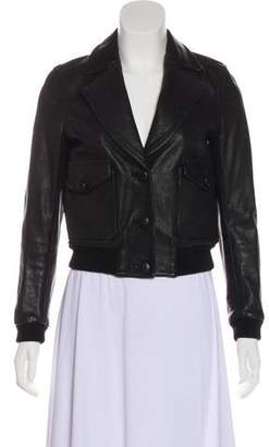 3.1 Phillip Lim Long Sleeve Leather Jacket