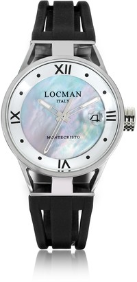 Locman Montecristo Stainless Steel and Titanium Mother of Pearl w/Silicone Strap Women's Watch