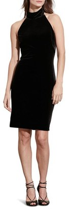 Women's Lauren Ralph Lauren Velvet Halter Dress $149 thestylecure.com