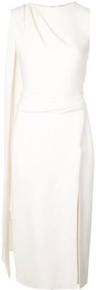 Oscar de la Renta thigh-split scarf-detail midi dress