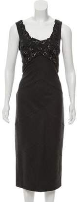 Ermanno Scervino Sleeveless Wool Dress
