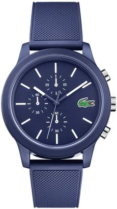 Lacoste Men's 12.12 Chronograph Watch with Blue Silicone Strap