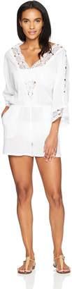 LaBlanca La Blanca Women's V-Neck Lace Romper Cover up Dress
