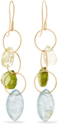 Melissa Joy Manning 14-karat Gold Multi-stone Earrings
