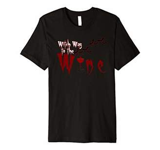Halloween Witch way to the wine shirt Wine party lover shirt