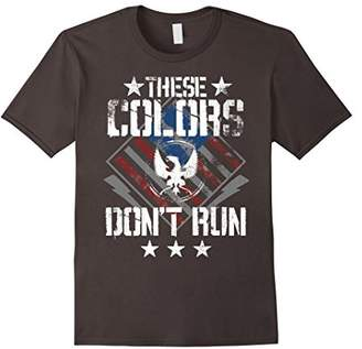 These Colors Don't Run Red White Blue Grunge Stripes T-Shirt