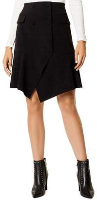 Karen Millen Double-Breasted Asymmetric Skirt