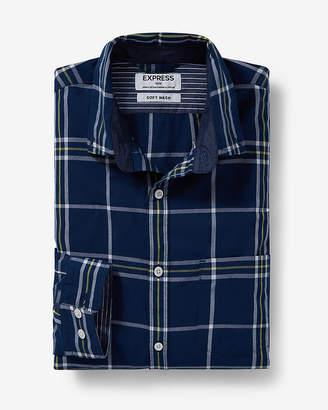 Express Soft Wash Windowpane Plaid Shirt